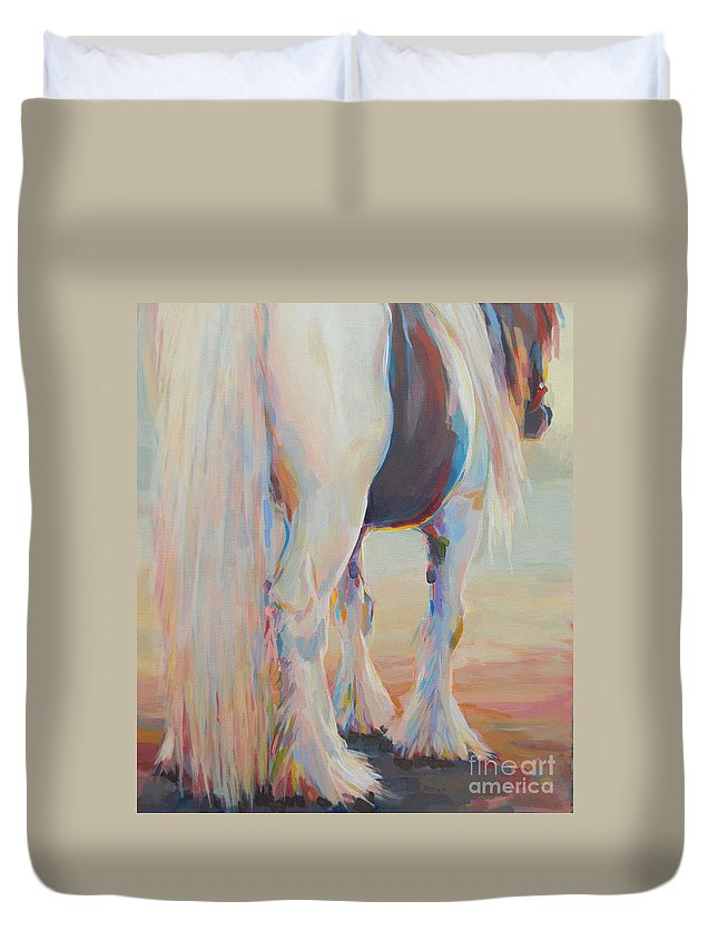 Gypsy Vanner Duvet Cover featuring the painting Gypsy Falls by Kimberly Santini