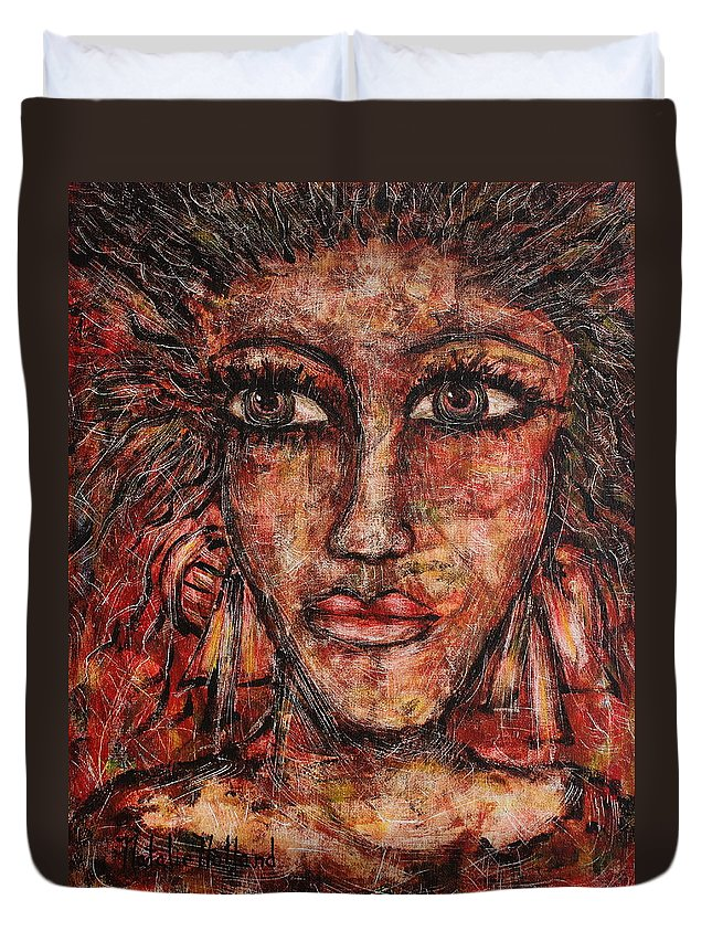 Expressionism Duvet Cover featuring the painting Gypsy by Natalie Holland
