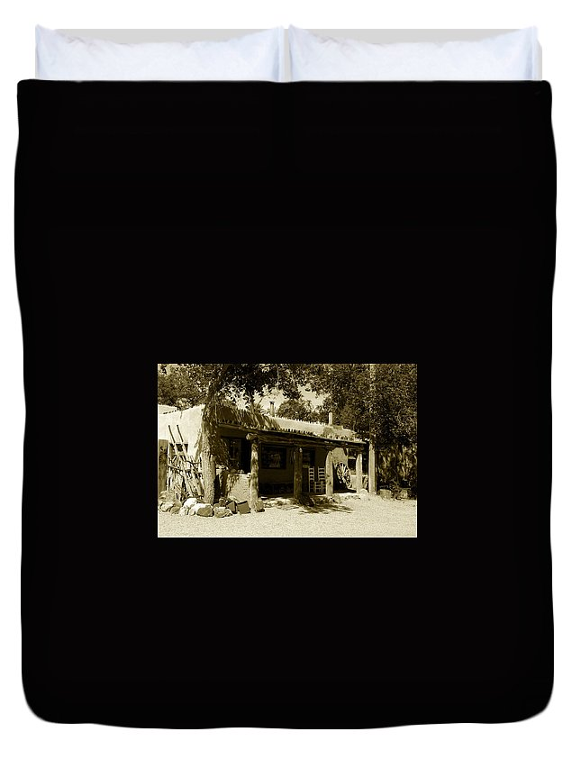 Hacienda Duvet Cover featuring the photograph Hacienda by David Lee Thompson