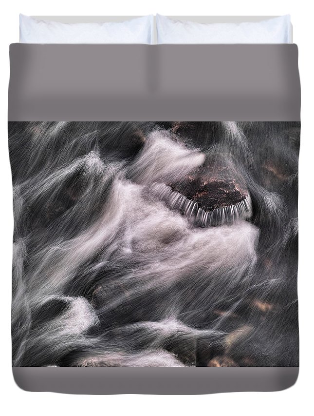 Stone Duvet Cover featuring the photograph Hairy River II by Pekka Sammallahti