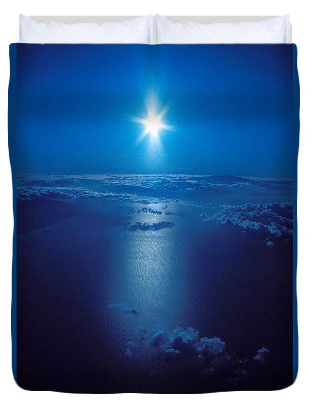 Above Duvet Cover featuring the photograph Haleakala Sunburst by David Cornwell/First Light Pictures, Inc - Printscapes