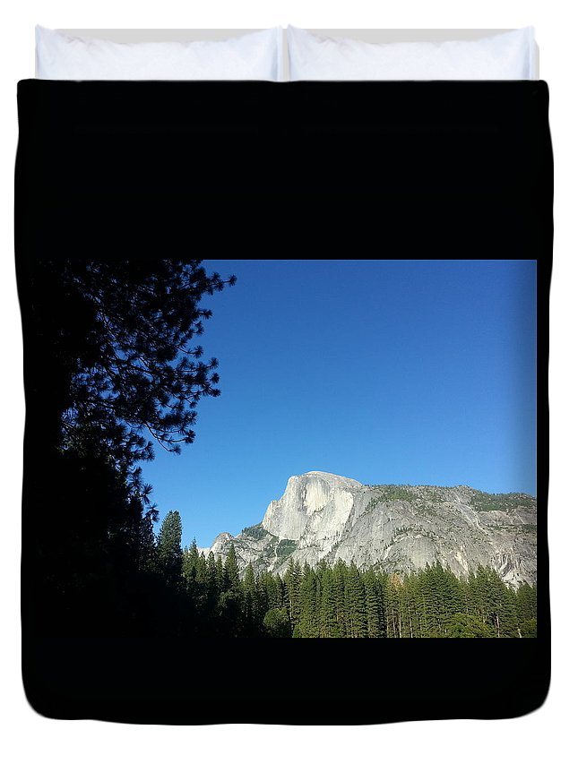 Half Dome Duvet Cover featuring the photograph Half Dome Village by Derek Ryan Jensen