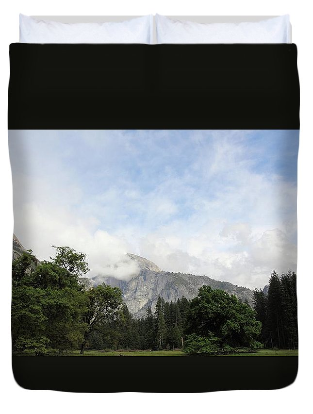 Yosemite Duvet Cover featuring the photograph Half Dome Yosemite National Park by Robin Weir