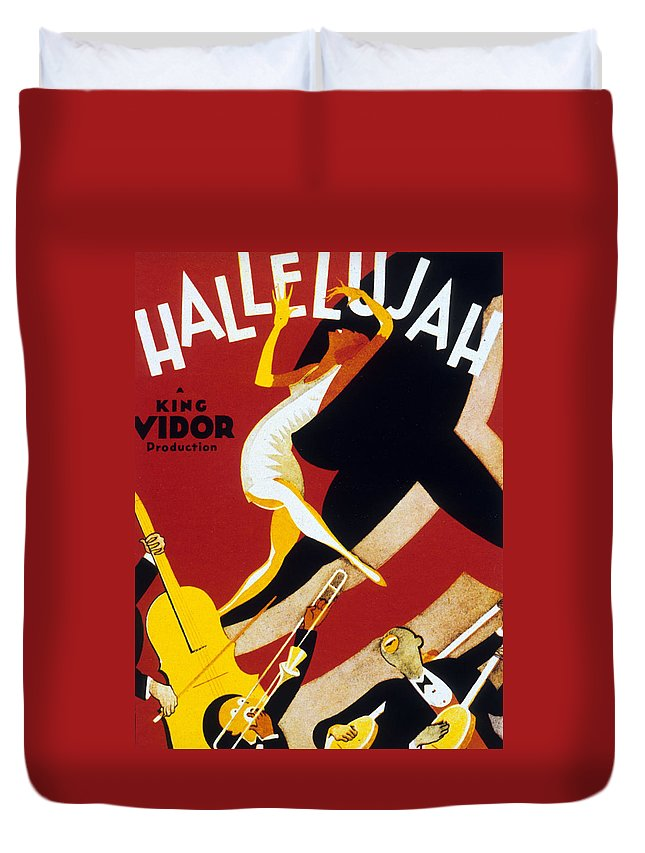 Jazz Duvet Cover featuring the drawing Hallelujah by American School