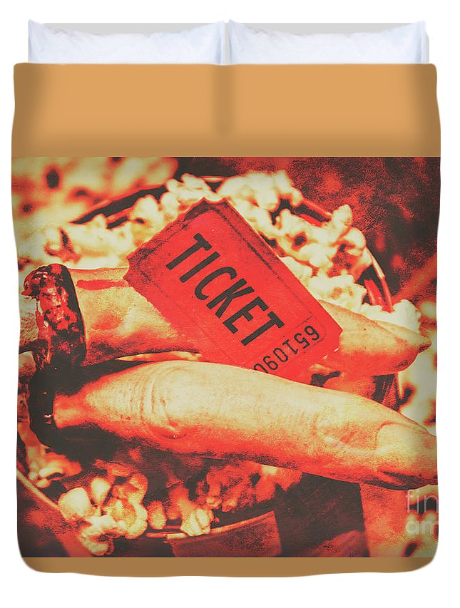 Movie Duvet Cover featuring the photograph Halloween Horror Film Event by Jorgo Photography - Wall Art Gallery