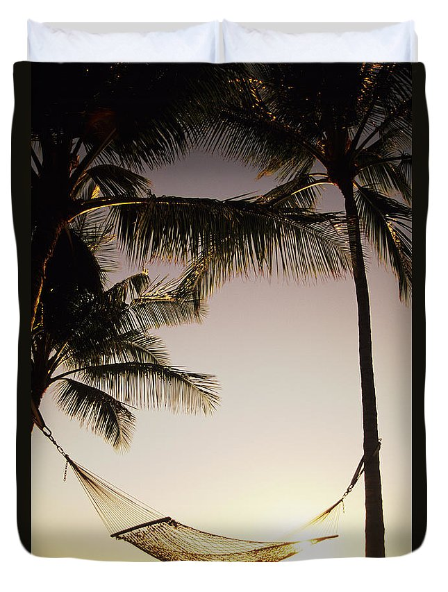 Attach Duvet Cover featuring the photograph Hammock by Dana Edmunds - Printscapes