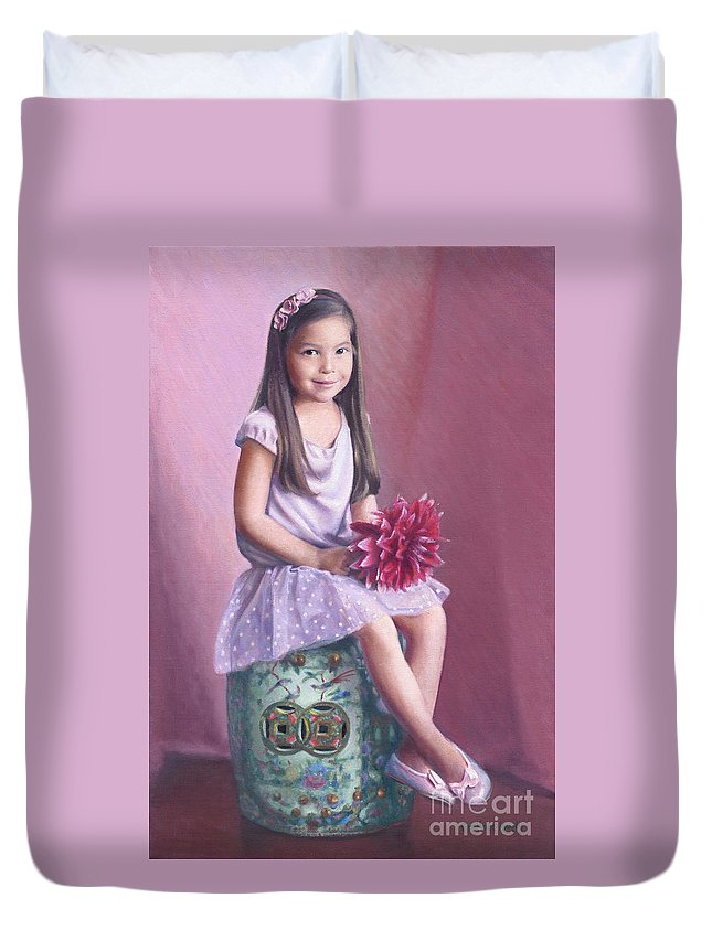 Hana Duvet Cover featuring the painting Hana by Candace Lovely