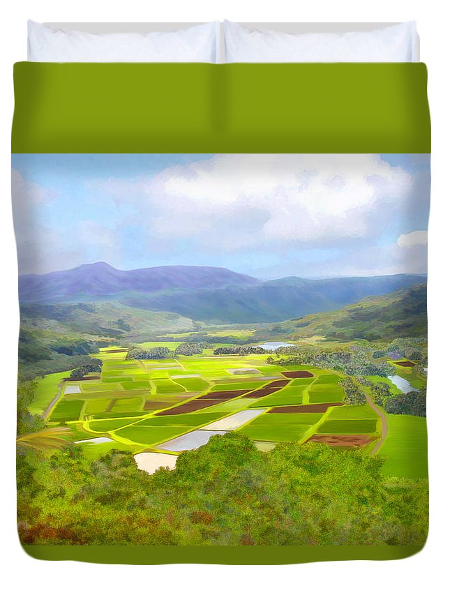 Hawaii Duvet Cover featuring the photograph Hanalai by Kurt Van Wagner