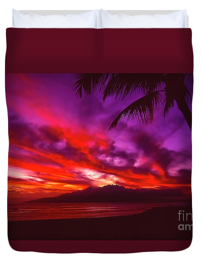Landscapes Duvet Cover featuring the photograph Hand of Fire by Jim Cazel