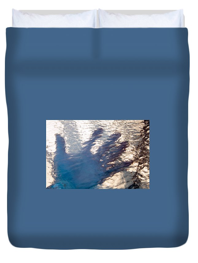 Clay Duvet Cover featuring the photograph Hand Out by Clayton Bruster