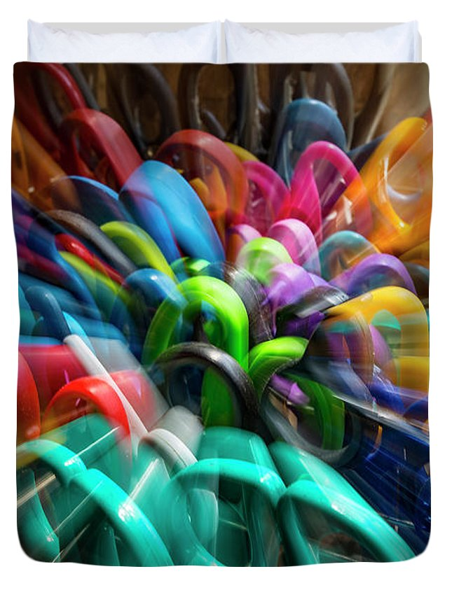 An Image Created Using A Time Exposure Duvet Cover featuring the photograph Handle This by Frederic A Reinecke