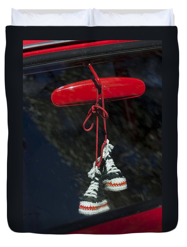 Baby Hightops Duvet Cover featuring the photograph Hanging Hightops by Jill Reger