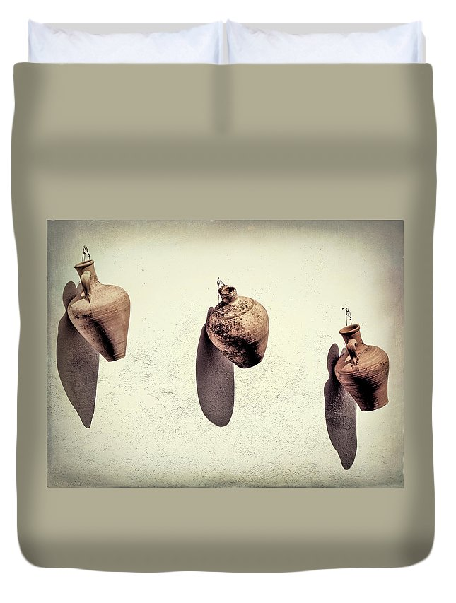 Spain Duvet Cover featuring the photograph Hanging In There by Claude LeTien