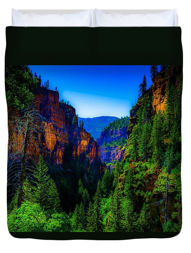 Colorado Duvet Cover featuring the photograph Hanging Lake Trail by Dean Arneson