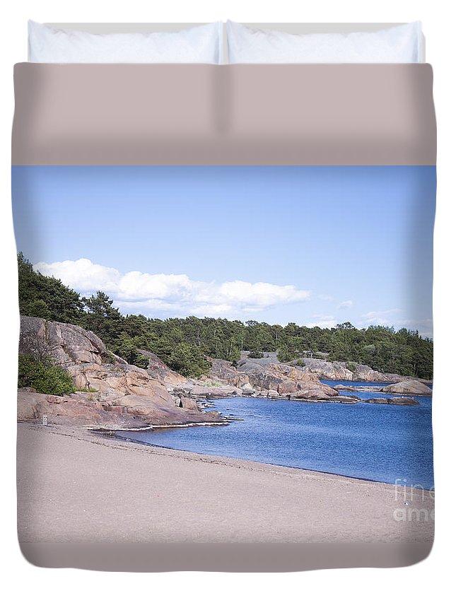 Hanko Duvet Cover featuring the photograph Hanko Beach by D R