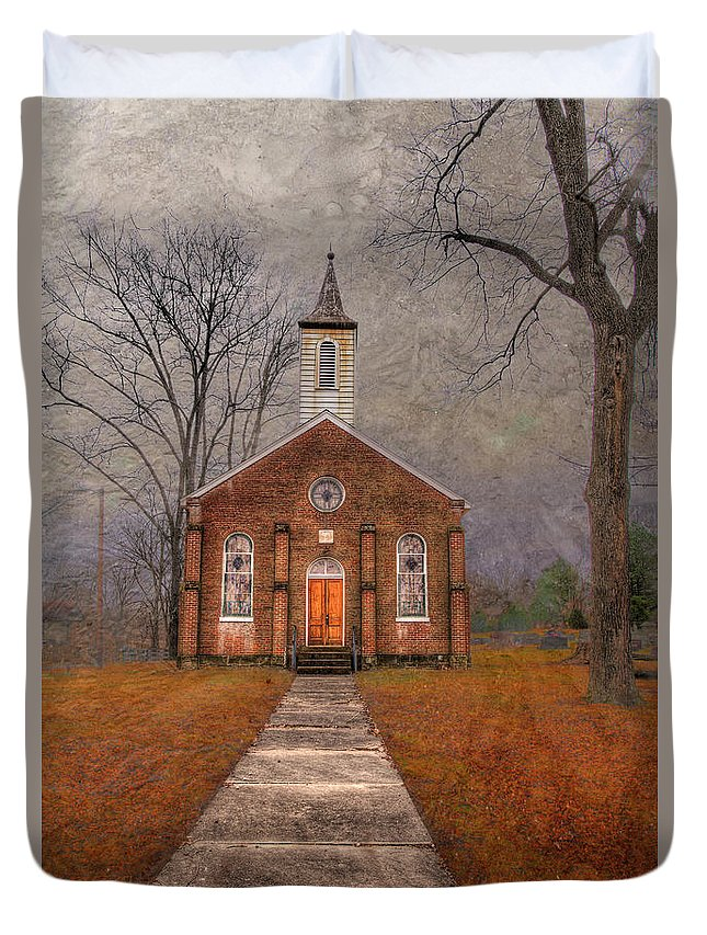 Travel Duvet Cover featuring the photograph Hanover Luthern Chruch by Larry Braun
