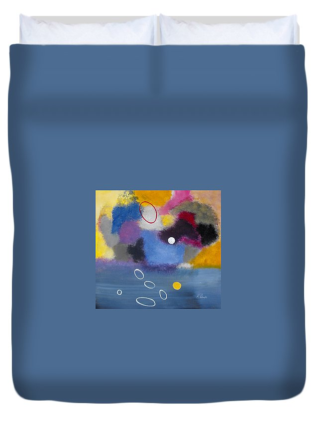 Color Duvet Cover featuring the painting Happiness II by Ruth Palmer