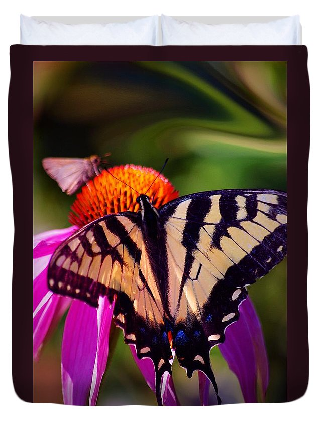 Flowers Duvet Cover featuring the photograph Happiness In Our Own Gardens... by Arthur Miller