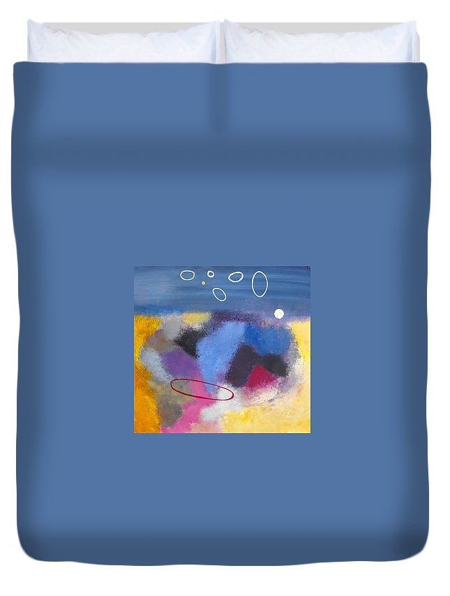 Color Duvet Cover featuring the painting Happiness by Ruth Palmer