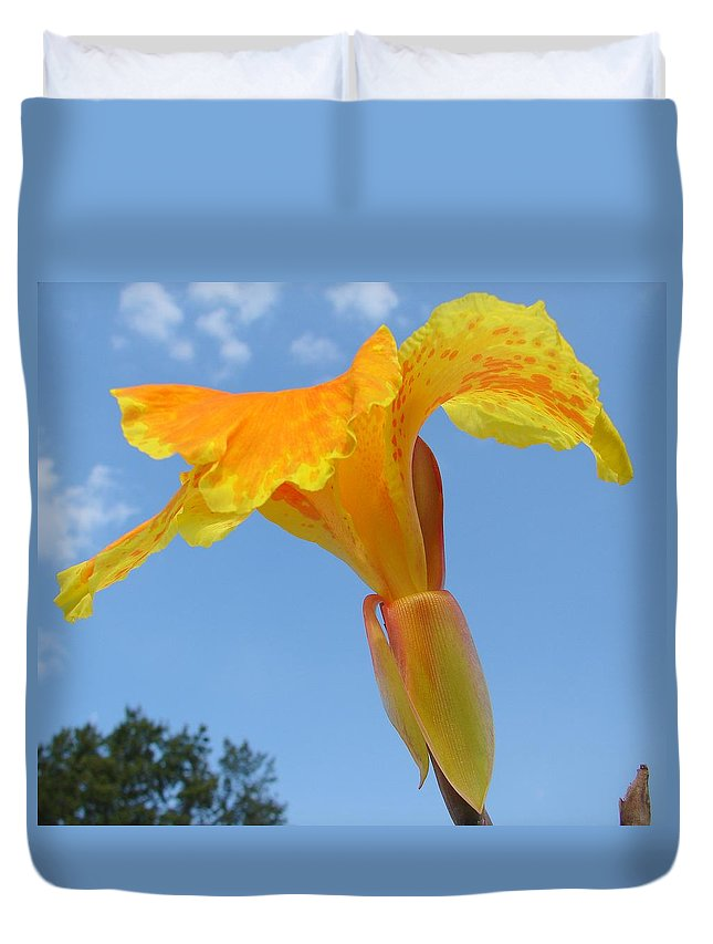 Duvet Cover featuring the photograph Happy Canna by Luciana Seymour