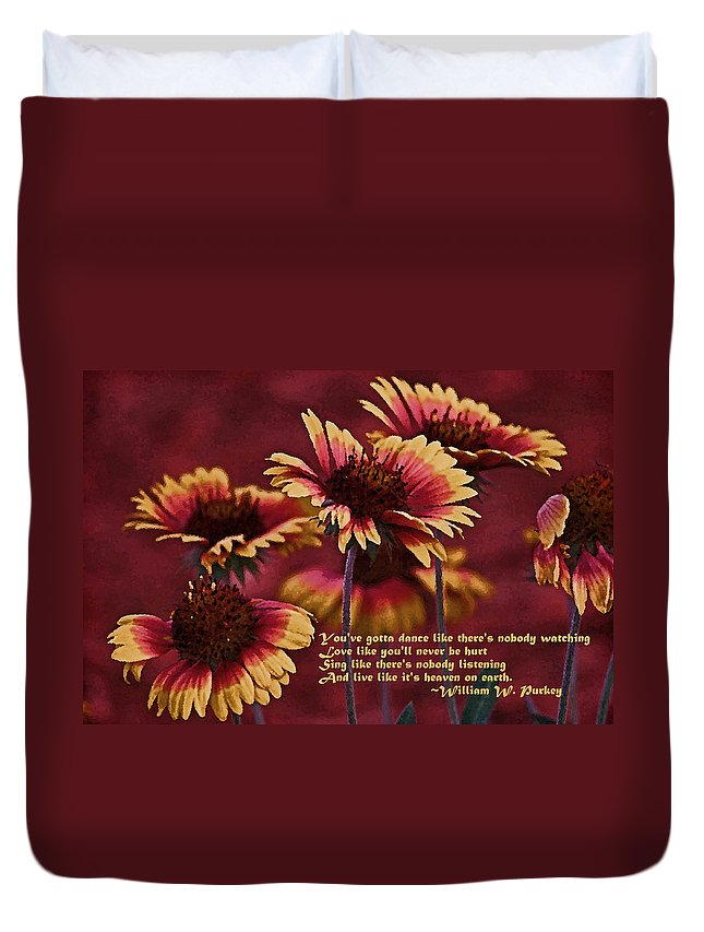 Gaillardia Duvet Cover featuring the photograph Happy Dancer 2 by HH Photography of Florida