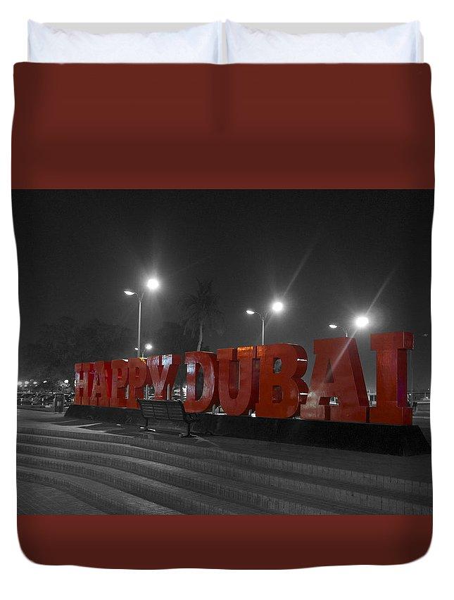 Park Duvet Cover featuring the photograph Happy Dubai by Art Spectrum