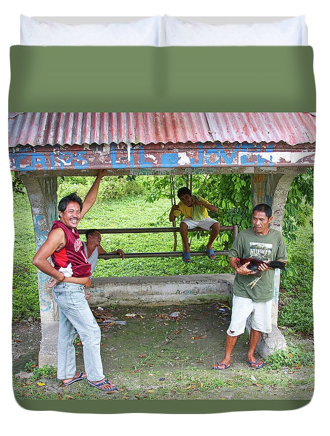 Insogna Duvet Cover featuring the photograph Happy Filipinos by James BO Insogna