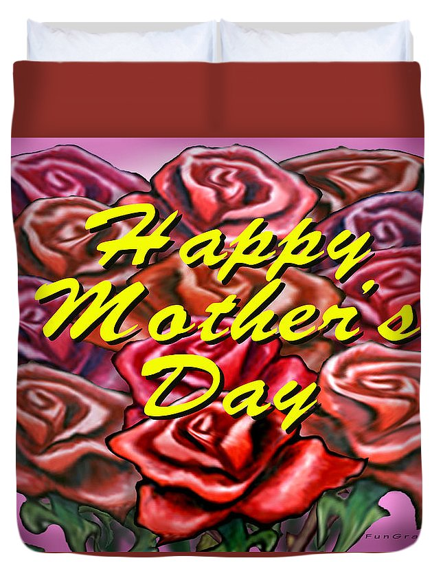 Mom Duvet Cover featuring the painting Happy Motherer's Day by Kevin Middleton