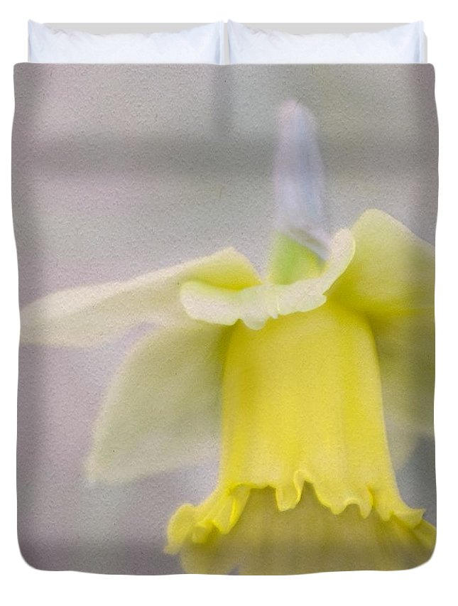 Daffodil Duvet Cover featuring the photograph Harbinger Of Spring by Cindy Garber Iverson