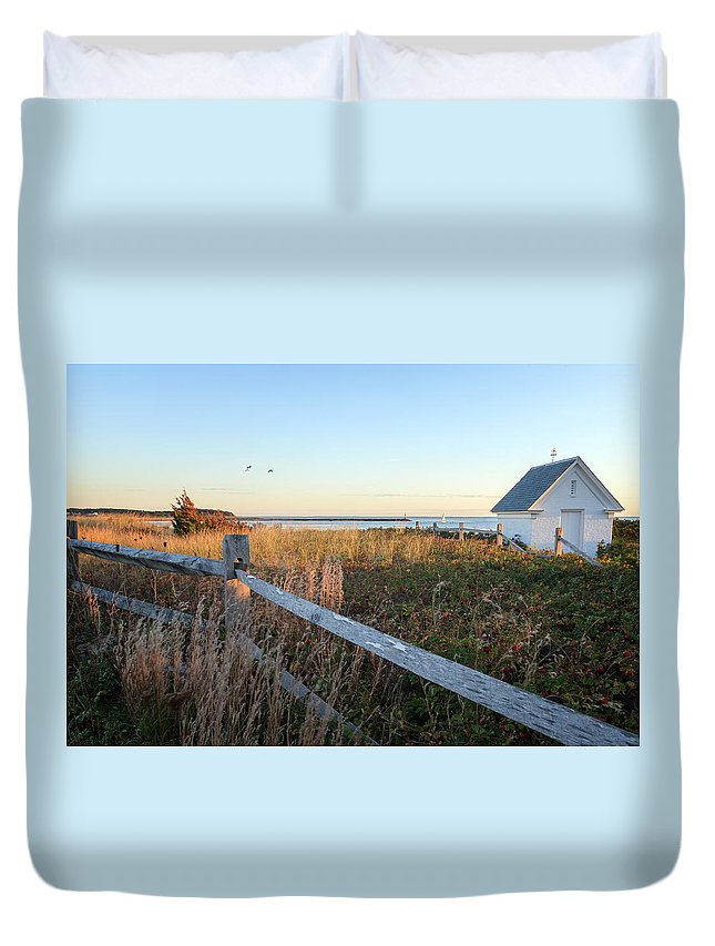 Cape Cod Duvet Cover featuring the photograph Harbor Shed by Bill Wakeley