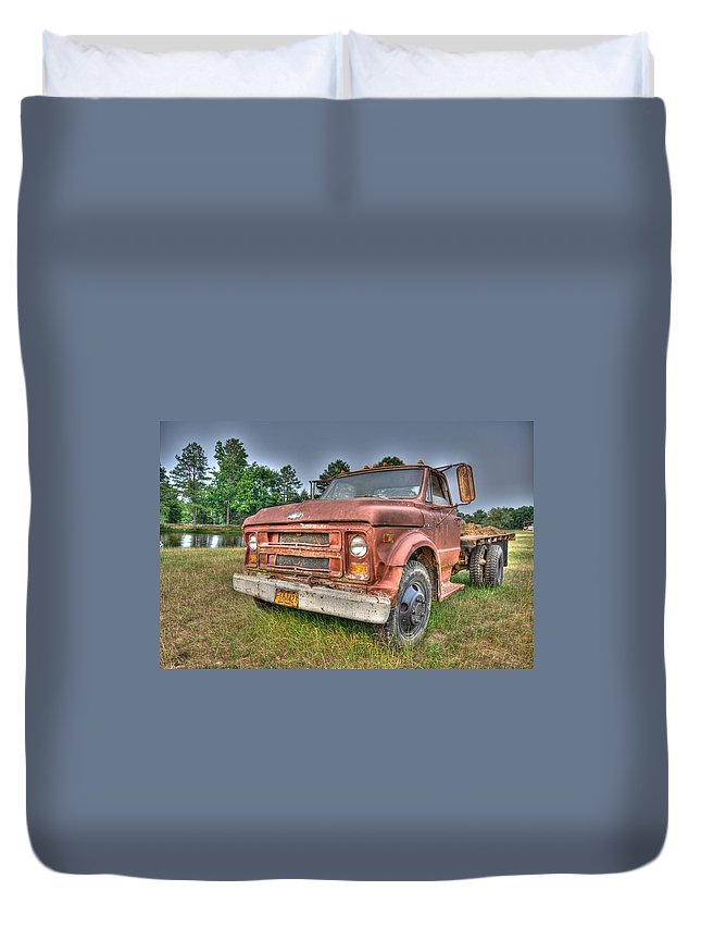 Farm Truck Duvet Cover featuring the photograph Hard Working Farm Truck by Rod Cuellar