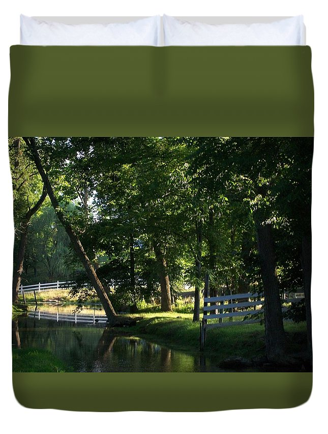 Spring Duvet Cover featuring the photograph Harlan Springs by Nancy Crouse