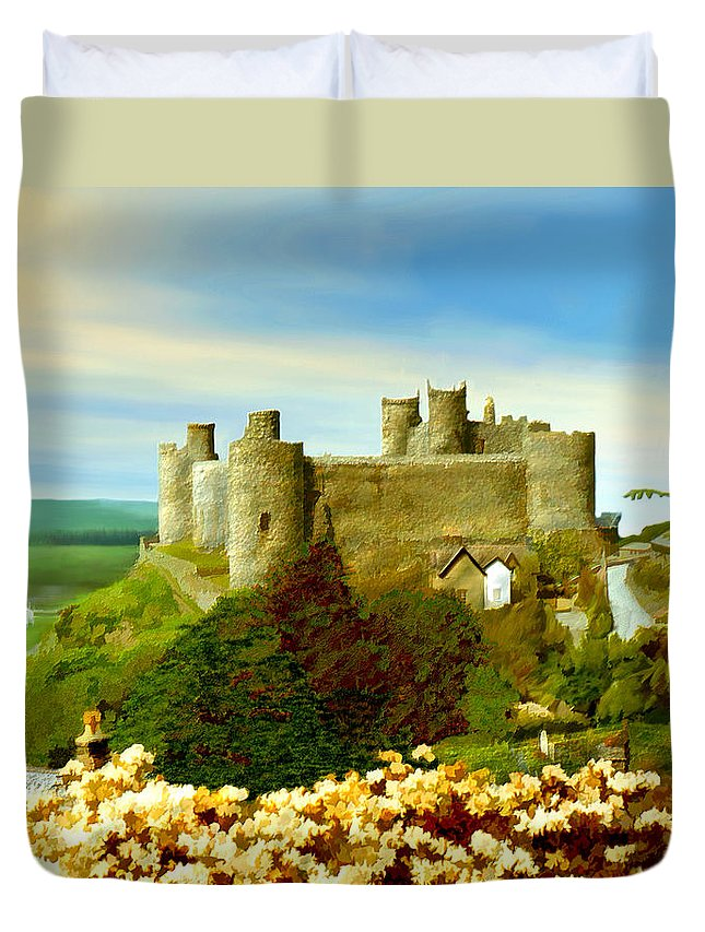 Castles Duvet Cover featuring the photograph Harlech Castle by Kurt Van Wagner