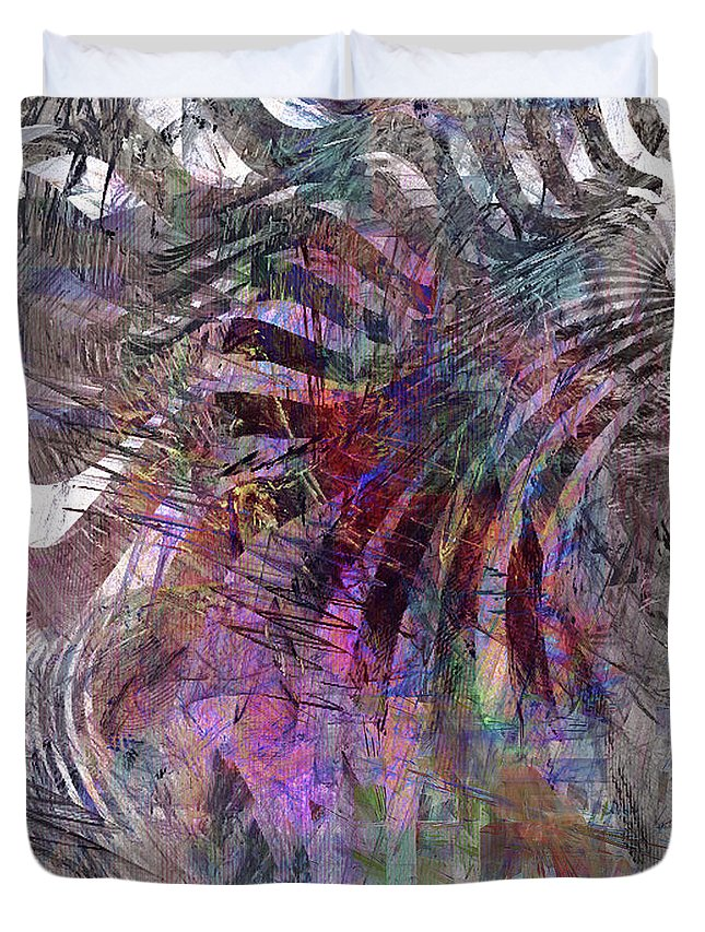 Harmonic Resonance Duvet Cover featuring the digital art Harmonic Resonance by John Beck