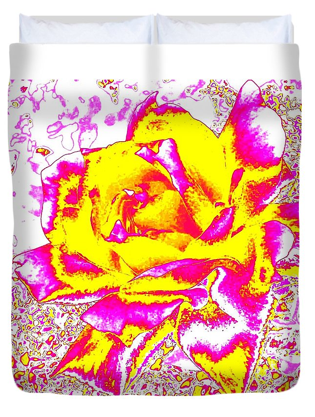 Abstract Duvet Cover featuring the digital art Harmony 12 by Will Borden