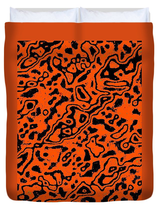 Abstract Duvet Cover featuring the digital art Harmony 17 by Will Borden
