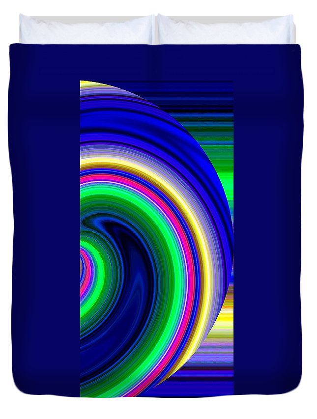 Abstract Duvet Cover featuring the digital art Harmony 19 by Will Borden