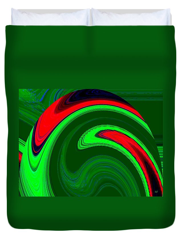 Abstract Duvet Cover featuring the digital art Harmony 20 by Will Borden