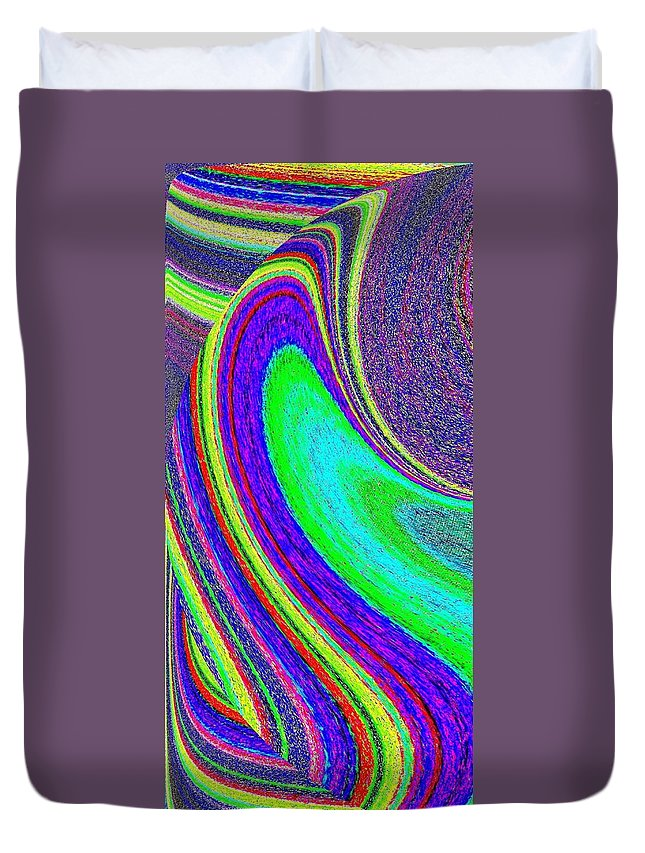 Abstract Duvet Cover featuring the digital art Harmony 21 by Will Borden