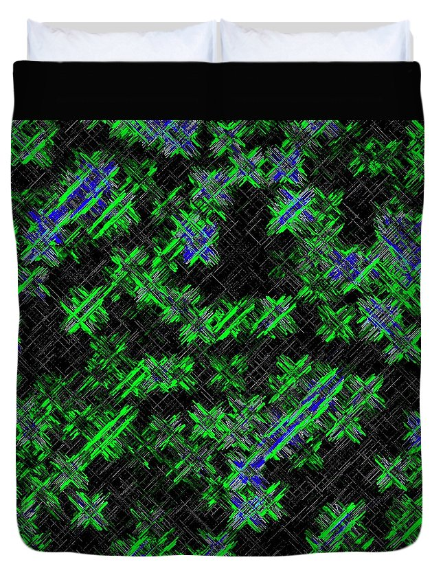Abstract Duvet Cover featuring the digital art Harmony 33 by Will Borden