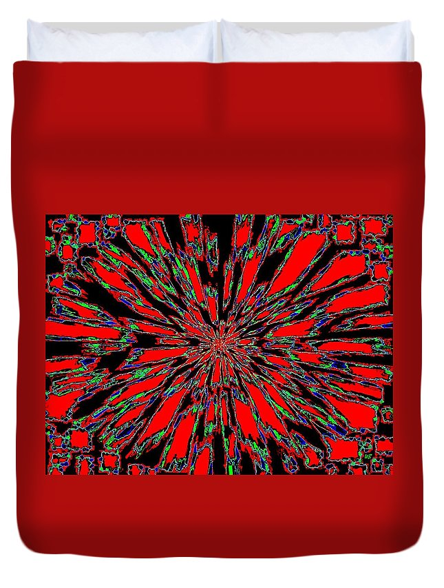 Abstract Duvet Cover featuring the digital art Harmony 37 by Will Borden