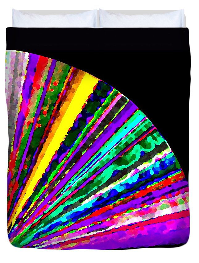 Abstract Duvet Cover featuring the digital art Harmony 7 by Will Borden