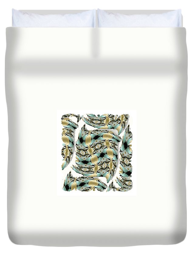 Abstract Duvet Cover featuring the digital art Harnesses Plus by Ron Bissett