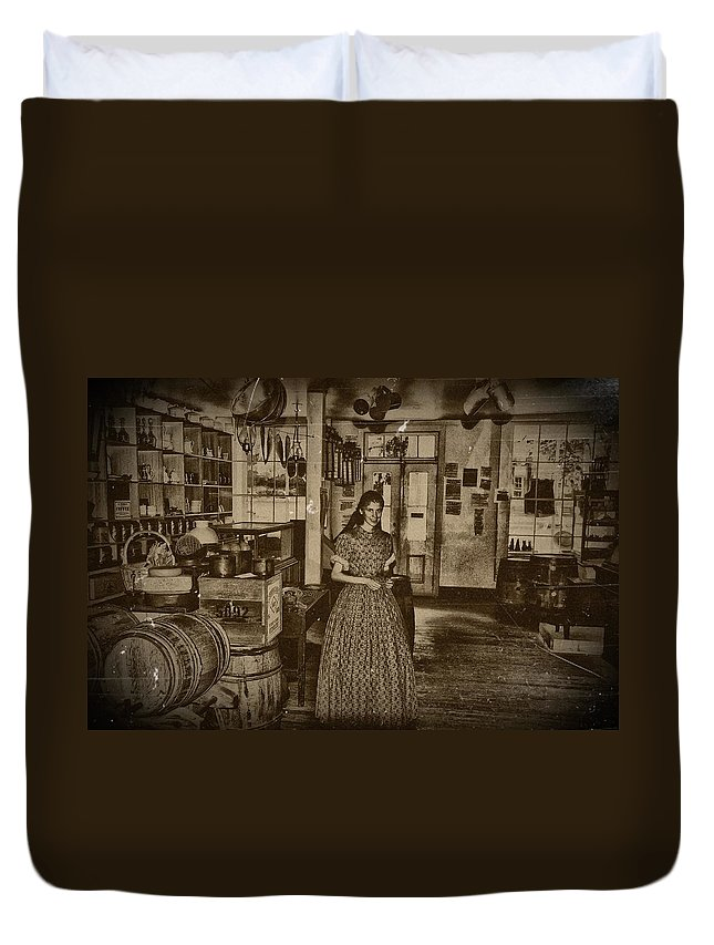 Harpers Ferry Duvet Cover featuring the photograph Harpers Ferry General Store by Bill Cannon
