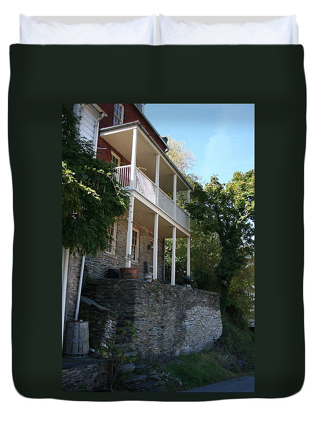 Home Duvet Cover featuring the photograph Harpers Ferry Home by Rebecca Smith