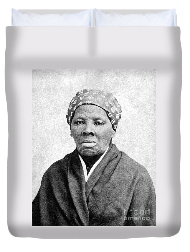 1895 Duvet Cover featuring the photograph Harriet Tubman 1823-1913. To License For Professional Use Visit Granger.com by Granger