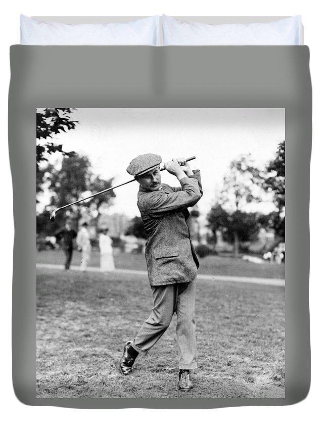 harry Vardon Duvet Cover featuring the photograph Harry Vardon - Golfer by International Images