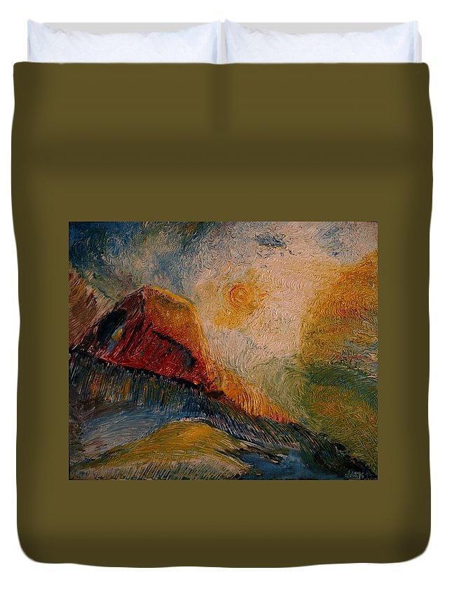 Rede Duvet Cover featuring the painting Harvast by Jack Diamond