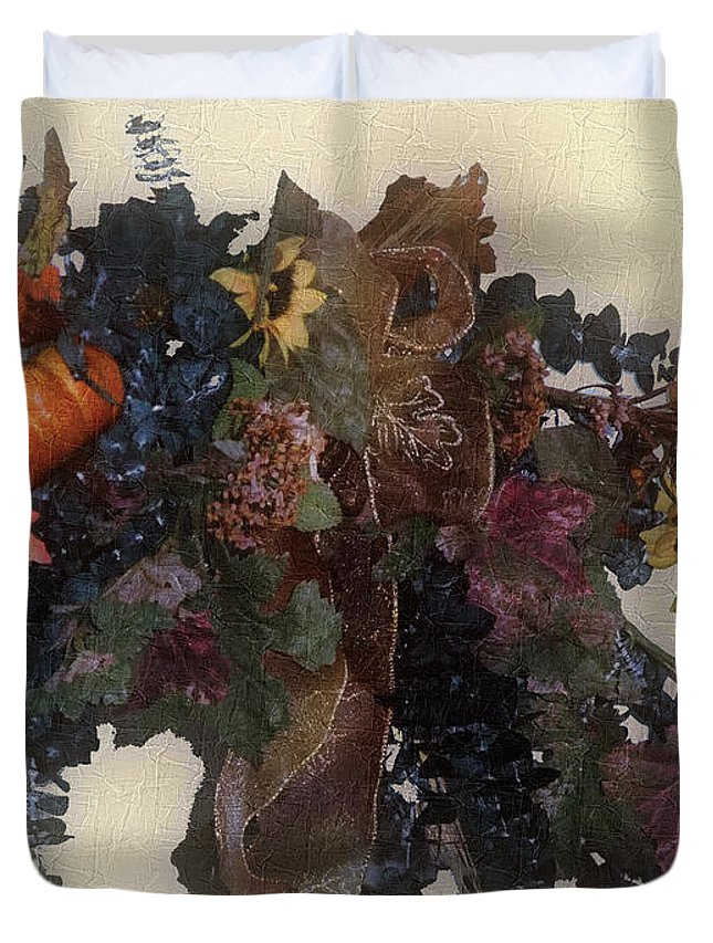 Autumn Duvet Cover featuring the painting Harvest Home by RC DeWinter