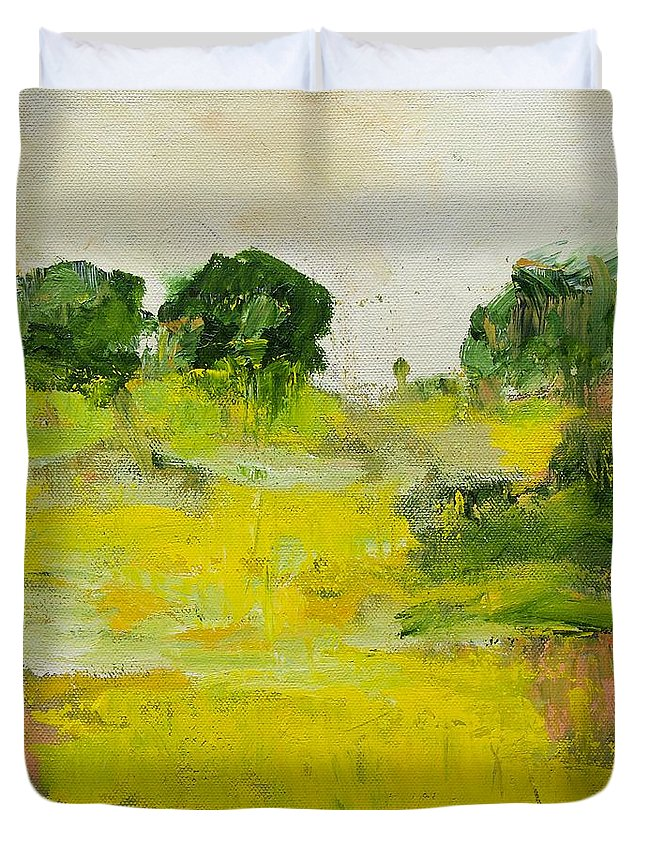 Landscape Duvet Cover featuring the painting Hastings by Allan P Friedlander